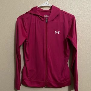Youth Large Pink Under Armour Zip-Up Jacket